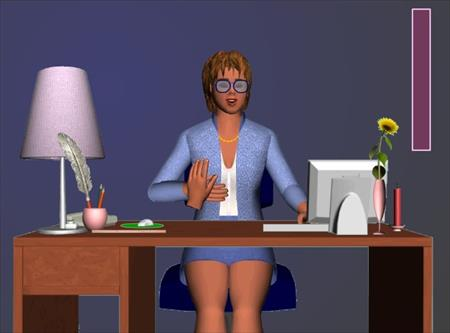 Late Night Still Working On Office - Pretty blond girl still doing her job on office even its already late, some gay approach her to help her relax by touching some parts of her body. To play this games just read the instruction and clic..